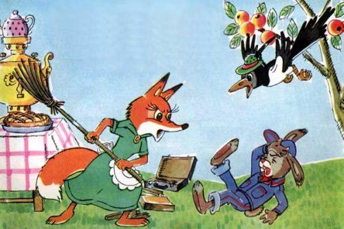 Лиса и заяц картинки для детей6
