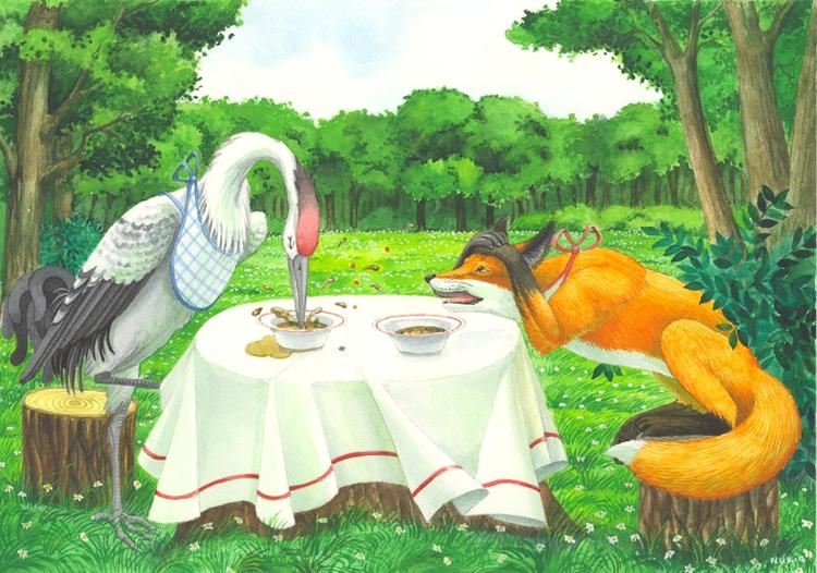 лиса и волк сказки картинки