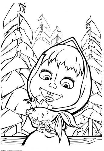 маша и медведь картинки раскраски17
