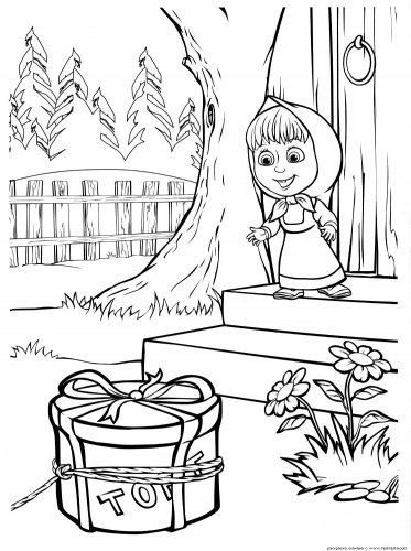 маша и медведь картинки раскраски19