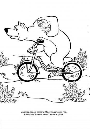 маша и медведь картинки раскраски7
