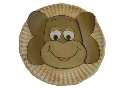 обезьяна из тарелки поделка