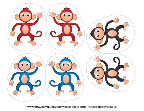 шаблоны обезьяны для поделок