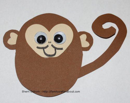 обезьяна поделка