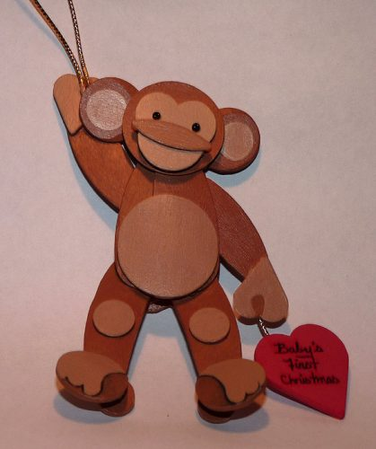 обезьяна поделка2