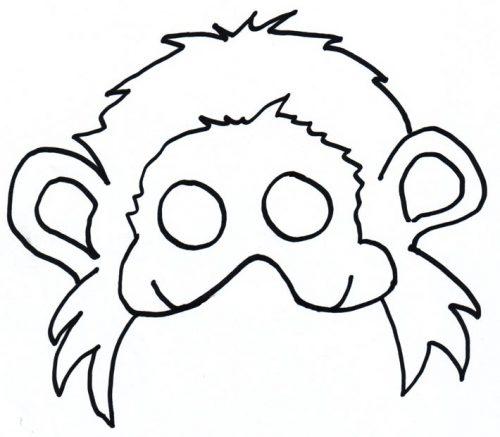 шаблоны обезьяны для поделок4