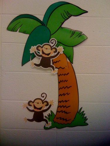 обезьянки на ветке поделка