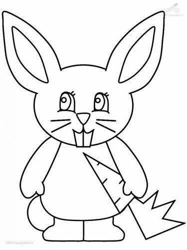 раскраска заяц13