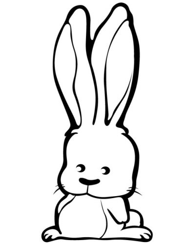 раскраска заяц14