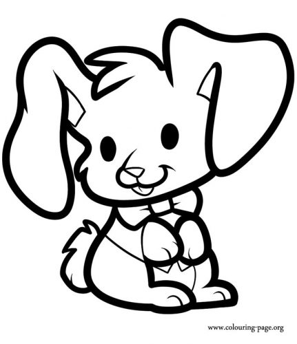 раскраска заяц6