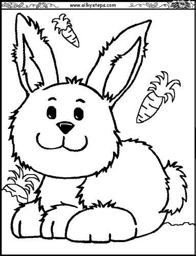 раскраска заяц7