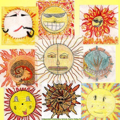 солнышко картинки для детей нарисованные