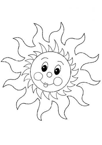 солнышко картинки для детей раскраски2