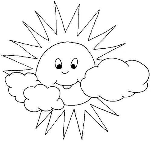 солнышко картинки для детей раскраски3