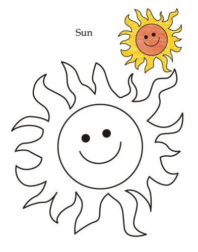 солнышко картинки для детей раскраски5