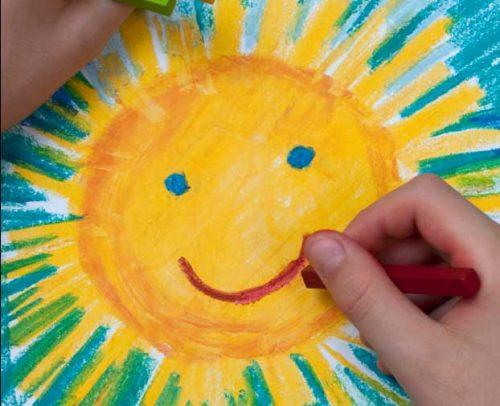 солнышко картинки для детей раскраски
