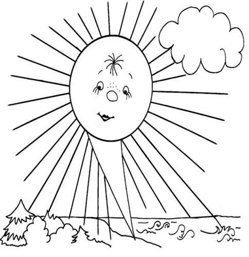 солнышко картинки для детей раскраски6