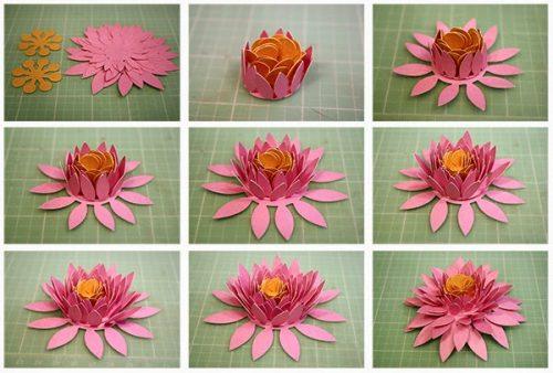 объемные цветы своими руками5