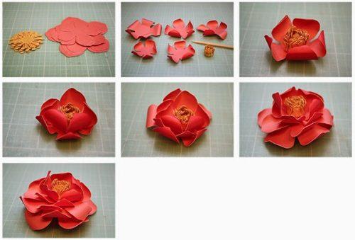 объемные цветы своими руками4
