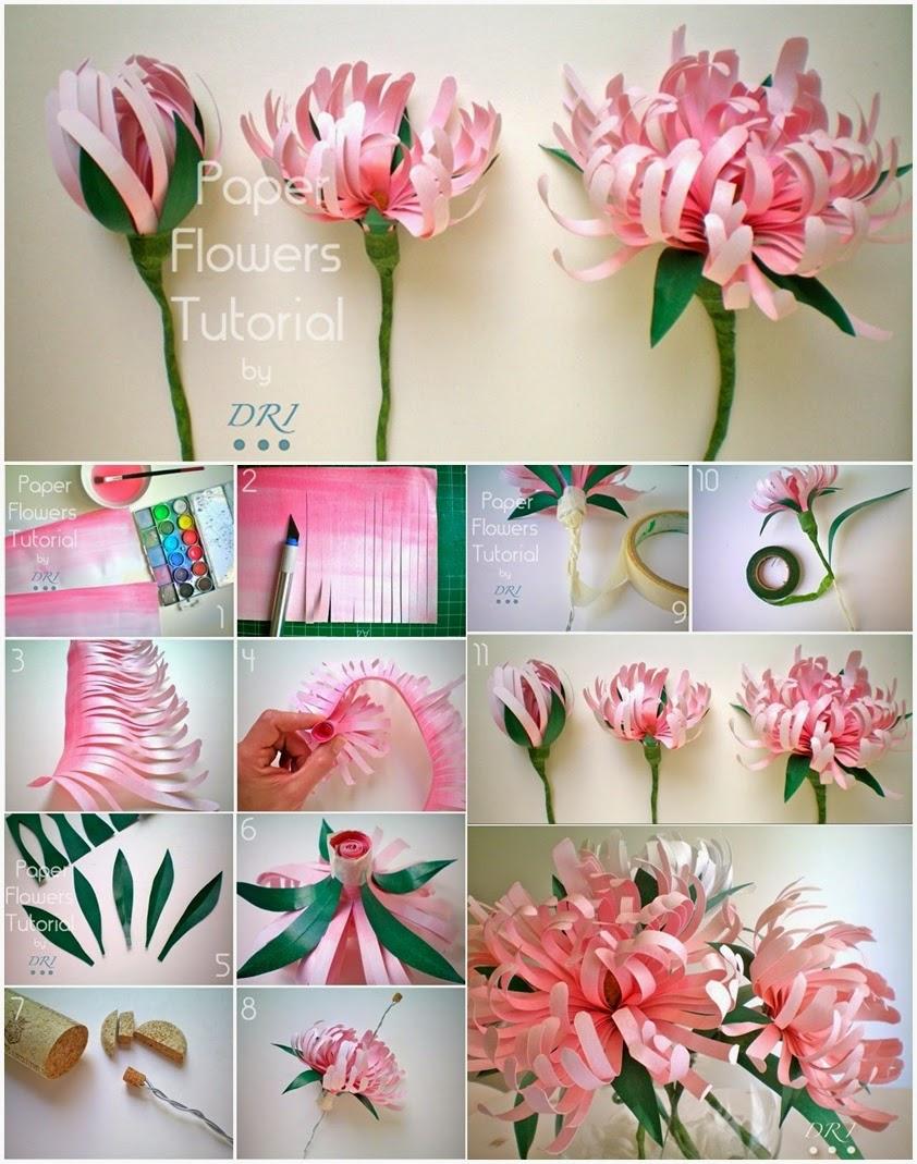 Цветы из бумаги  фото пошагово 71