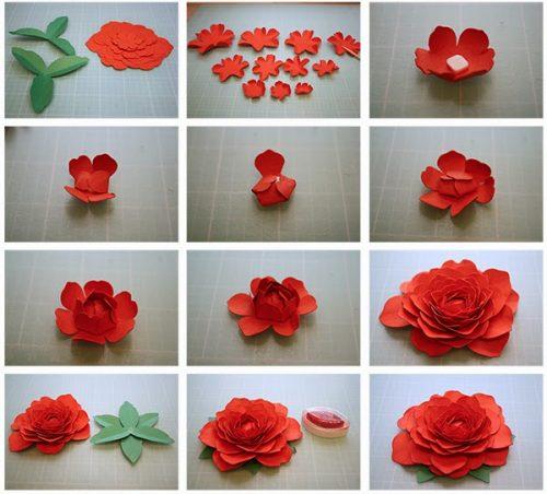 Цветы из бумаги своими руками (76 фото шаг за шагом как) 10