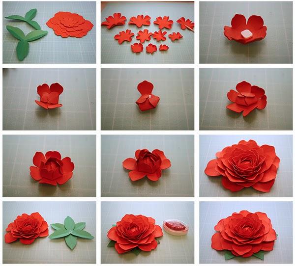 Как сделать объемный цветок из бумаги поэтапно