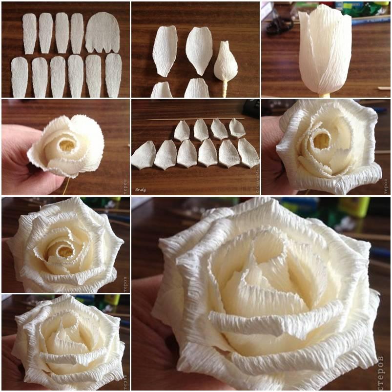 Большие цветы своими руками пошаговая инструкция 782