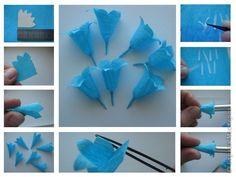 объемные цветы из гофрированной бумаги3