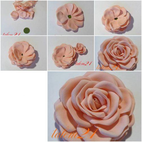 объемные цветы из гофрированной бумаги4