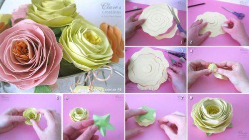 объемные цветы из гофрированной бумаги6