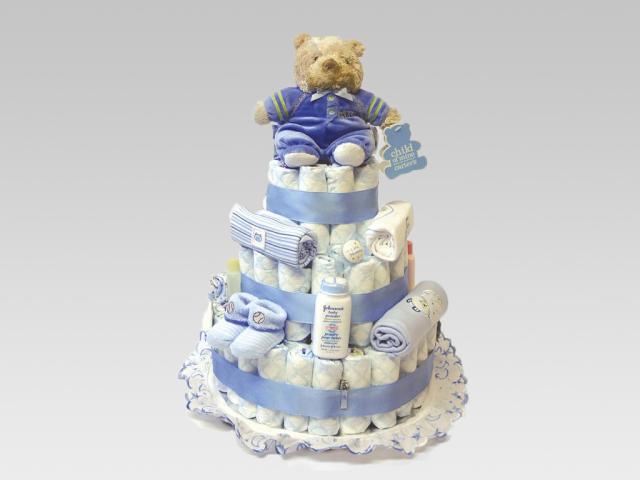 Тортик из памперсов своими руками для мальчиков 5