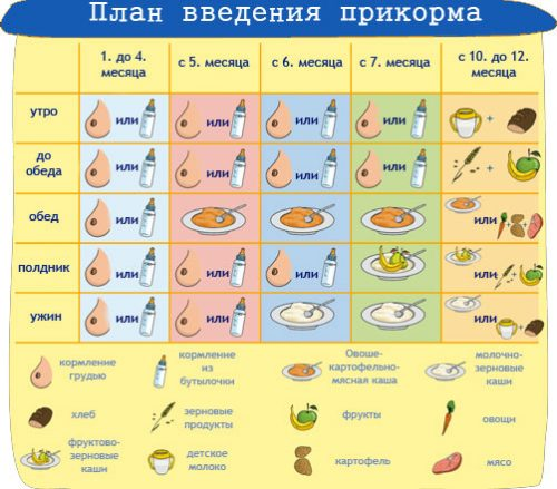 таблица прикорма 5 месячного малыша