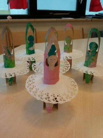 зимняя поделка снежинки балерины