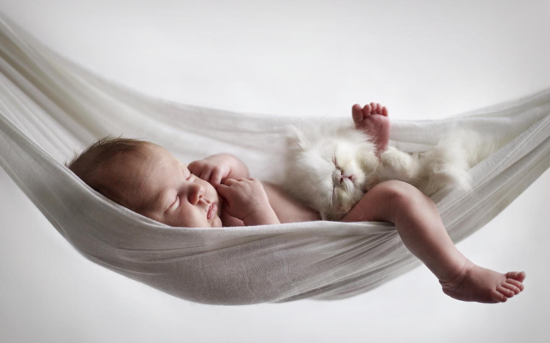 грудной ребенок спит ночью