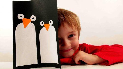 зимняя поделка пингвин