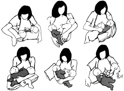 позы для грудного вскармливания