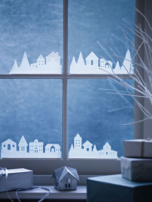 зимняя поделка ночной город