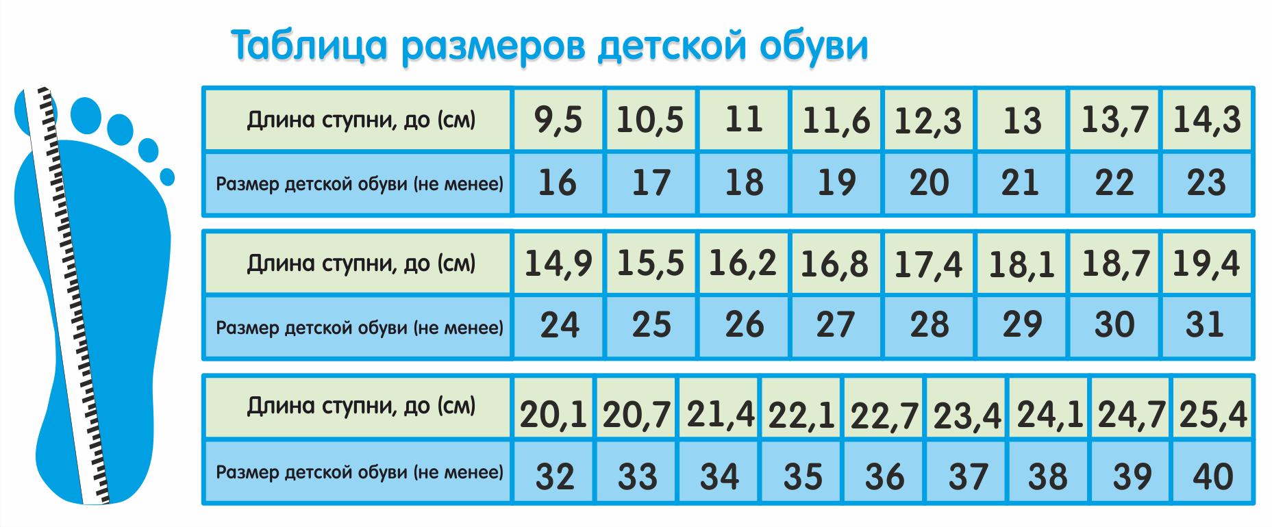 Схема размеров новорожденных