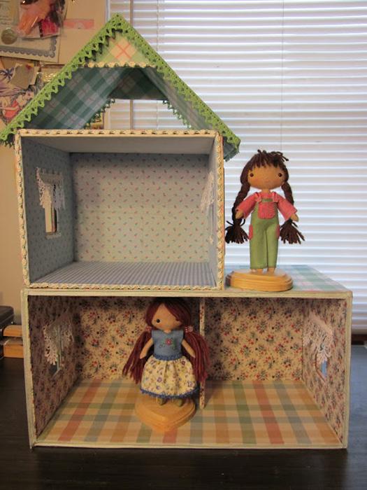 домик для куклы своими руками вид изнутри
