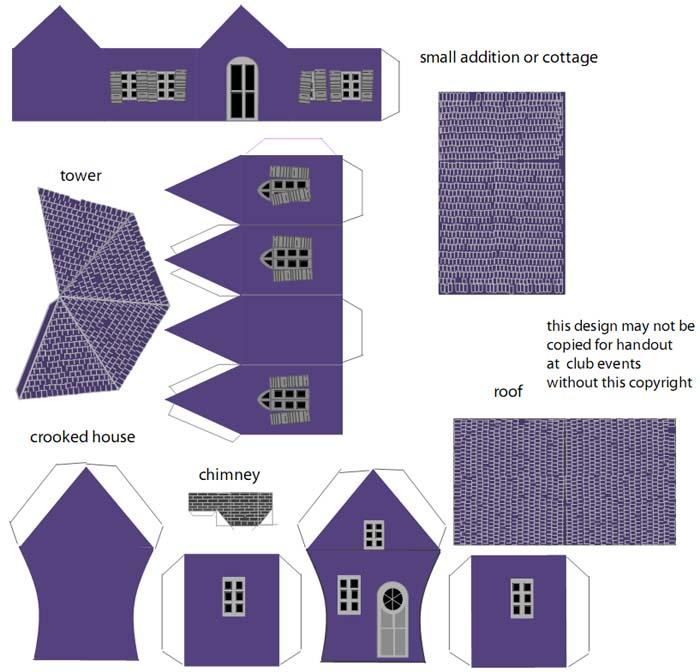 Схемы для распечатки бумажного домика