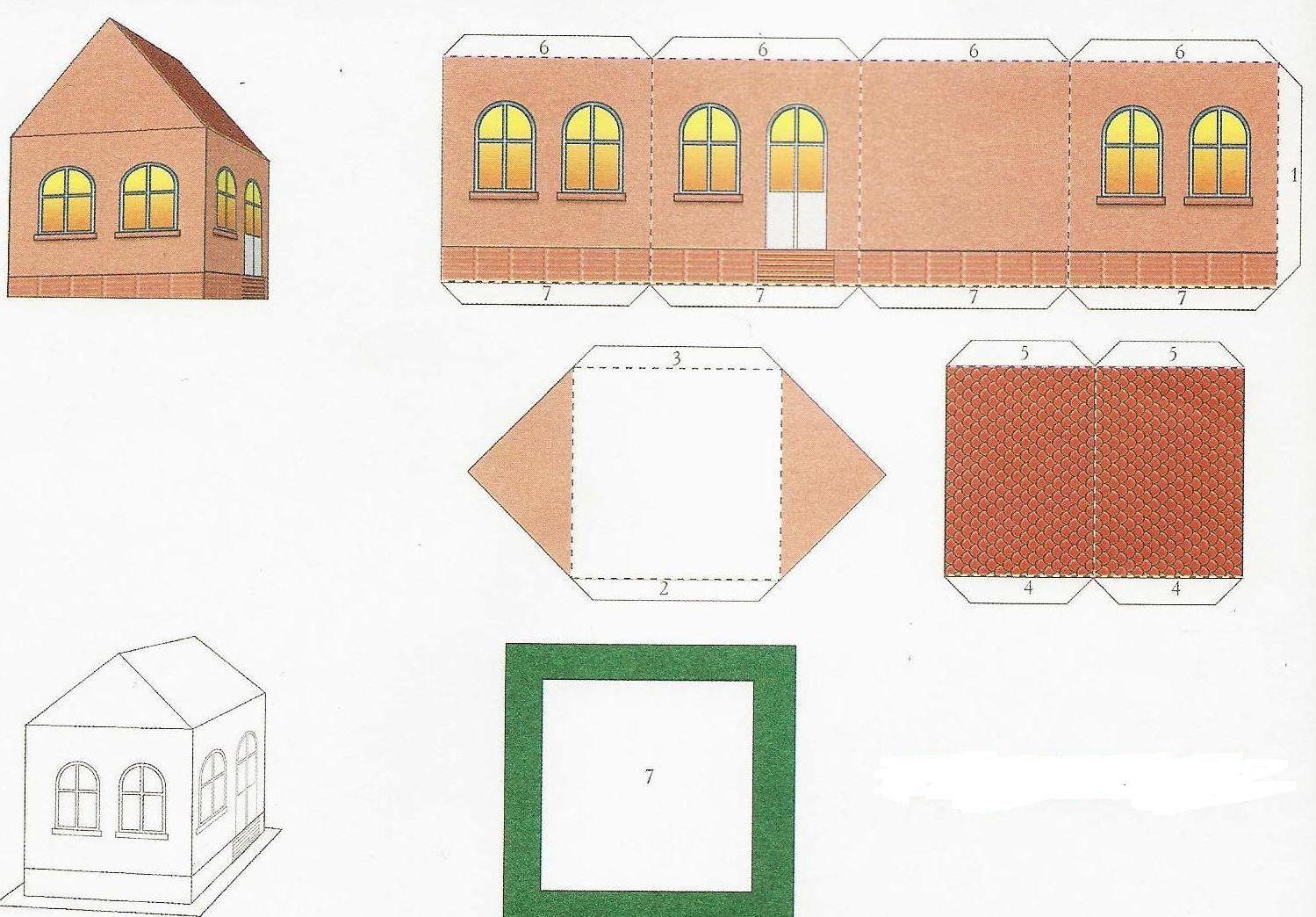 Макет дома из бумаги своими руками схемы - СтроимСвоимиРуками. рф 36
