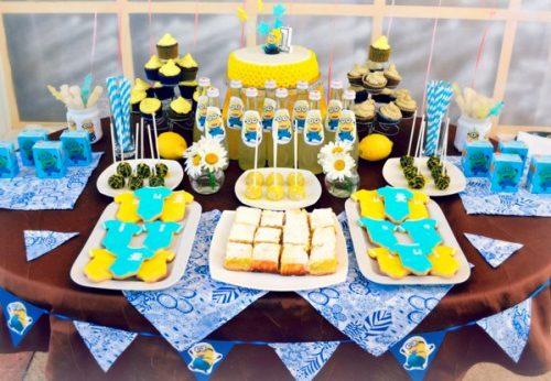 оформление стола на детский день рождения фото7