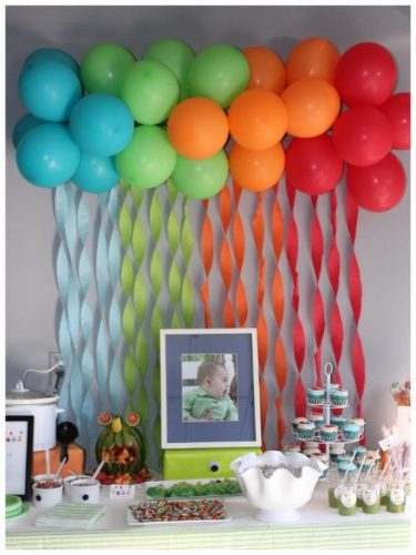 оформление стола на детский день рождения фото2