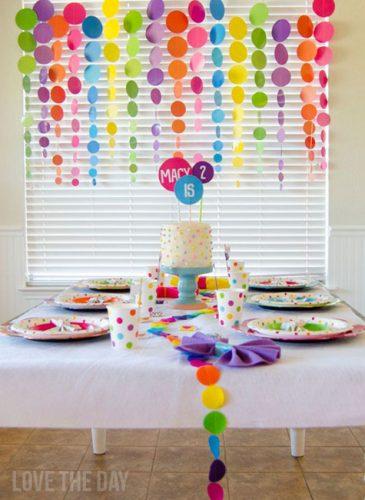 оформление стола на детский день рождения фото3