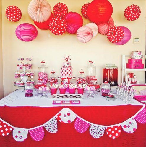 оформление стола на детский день рождения фото
