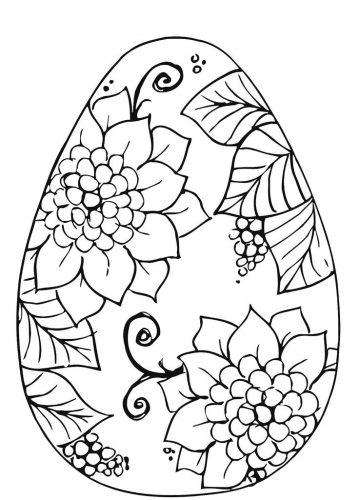 раскраска пасхальное яйцо11