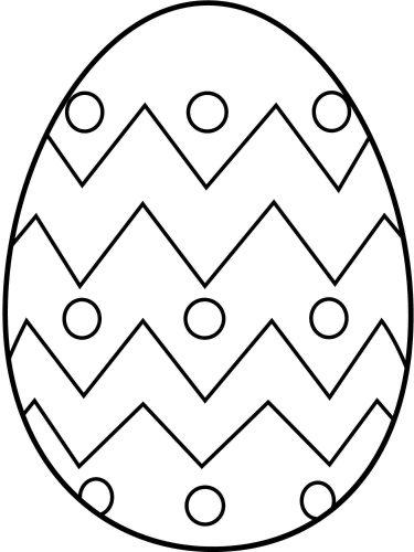 раскраска пасхальное яйцо2