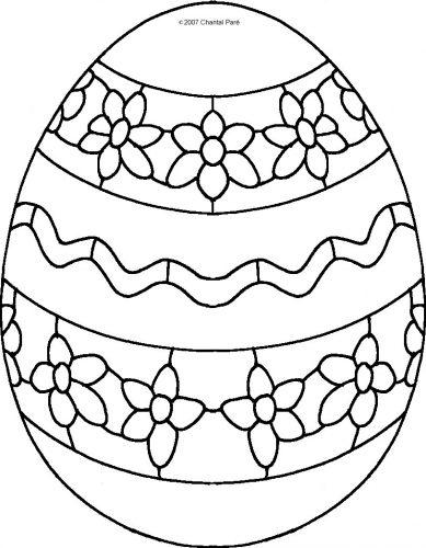 раскраска пасхальное яйцо3