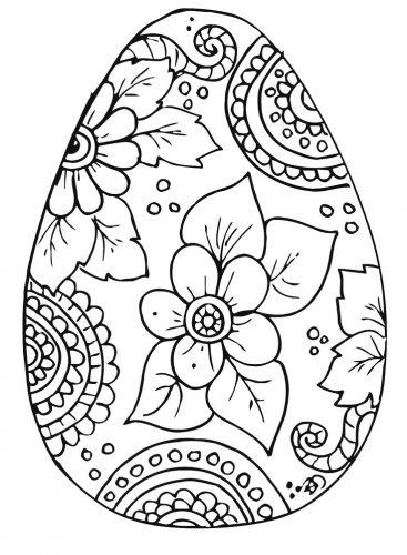 раскраска пасхальное яйцо7