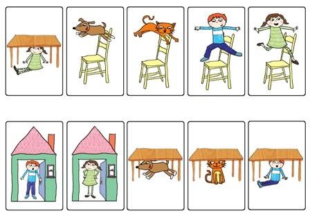 Предлоги в картинках для детей